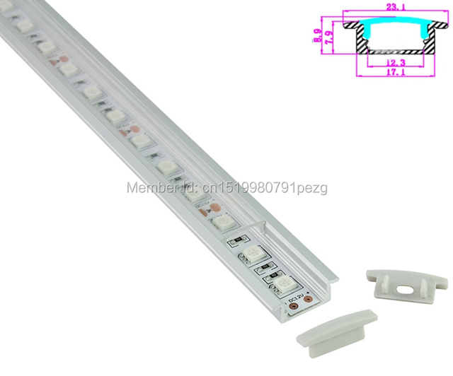 10 x 1M Sets/Lot T type Anodized LED extrusion profile and AL6063 Aluminium led profiles for recessed floor lights