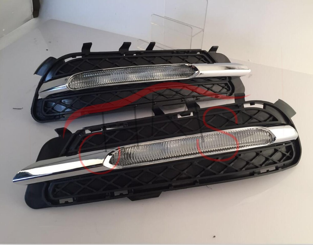 Car Styling DRL LED Car Daytime Running Lights For Mercedes benz w212 E180 E200 E260 E320 E400 2011-2014