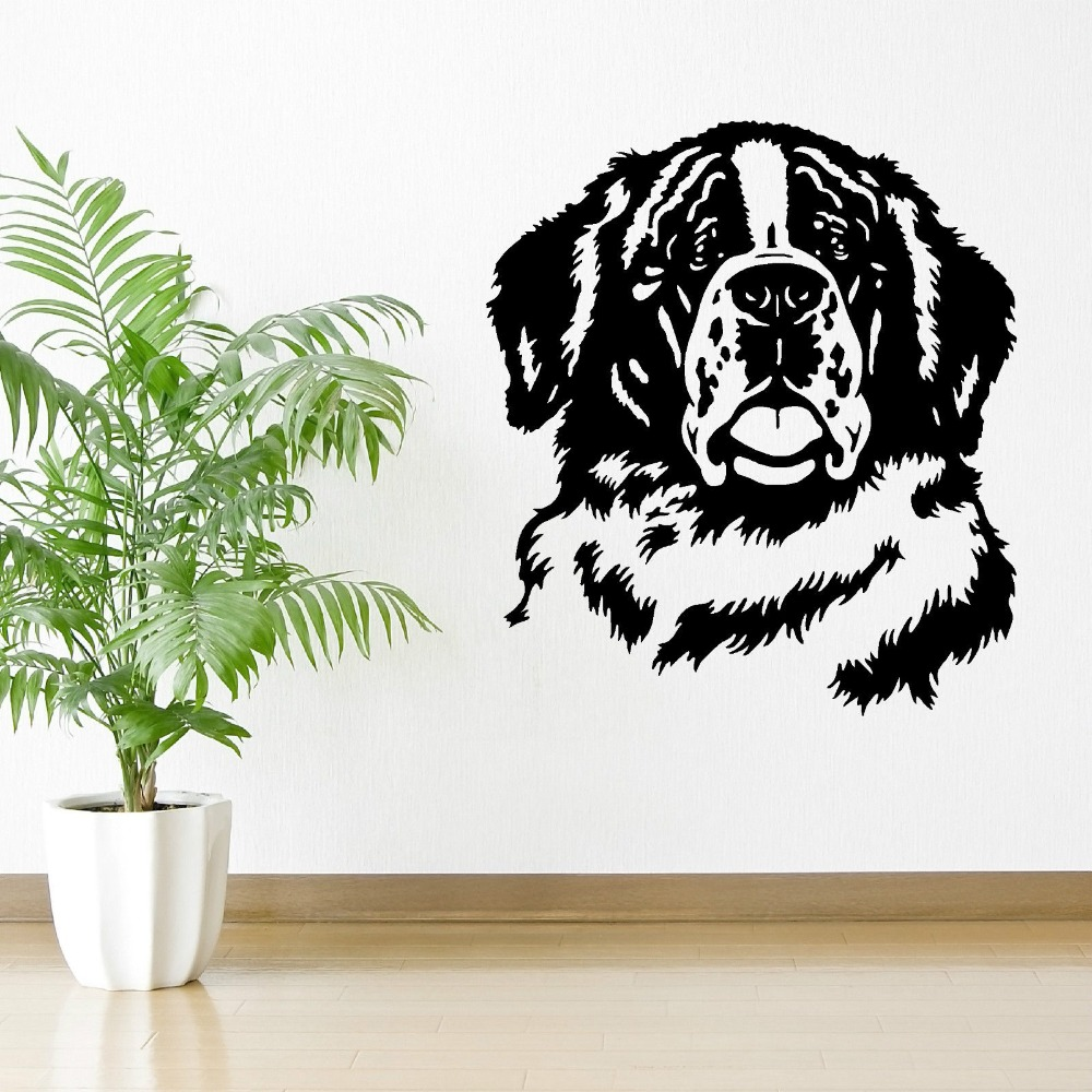 Free Shipping St Bernard Dog 2016 New Hot Dog Wall Decals