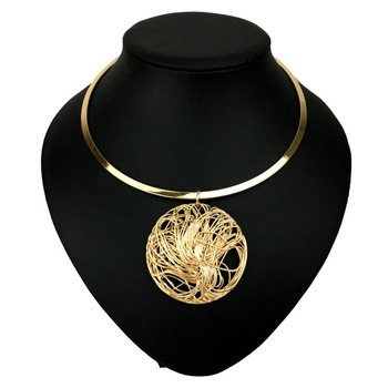 Brand Fashion Torques Cheap Collar Choker Necklace Big Metal Wire Pendants Jewelry 1