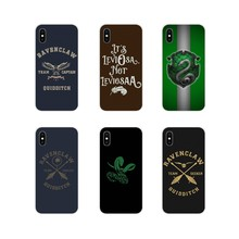 Harry Potter always Slytherin School Silicone Bag Case For Apple iPhone X XR XS MAX 4 4S 5 5S 5C SE 6 6S 7 8 Plus ipod touch 5 6(China)