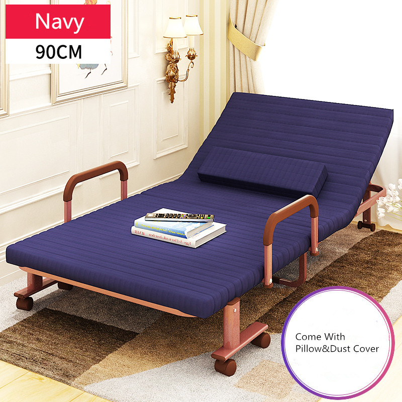 90cm Wide Metal Folding Bed with Mattress Bedroom Furniture Rollaway Guest Bed for Adults and Kids RollAway Guest Day/Night Bed free shipping plastic miniatures bedroom furniture single bed with pillow and bed sheet for barbie dolls dollhouse kids gift