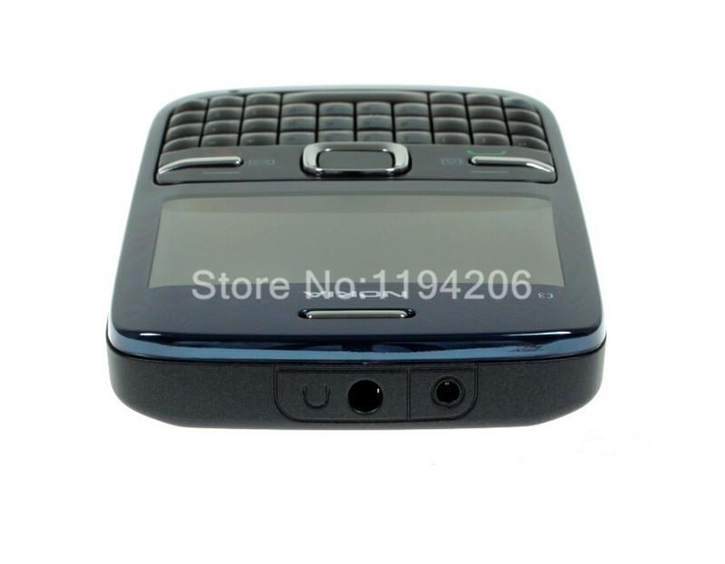 Refurbished nokia c3-00 WIFI 2MP bluetooth camera Jave unlocked phone blue 6