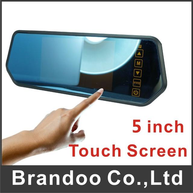 El envío libre de la pantalla táctil monitor del coche apoyo 2 cámaras de visualización automática