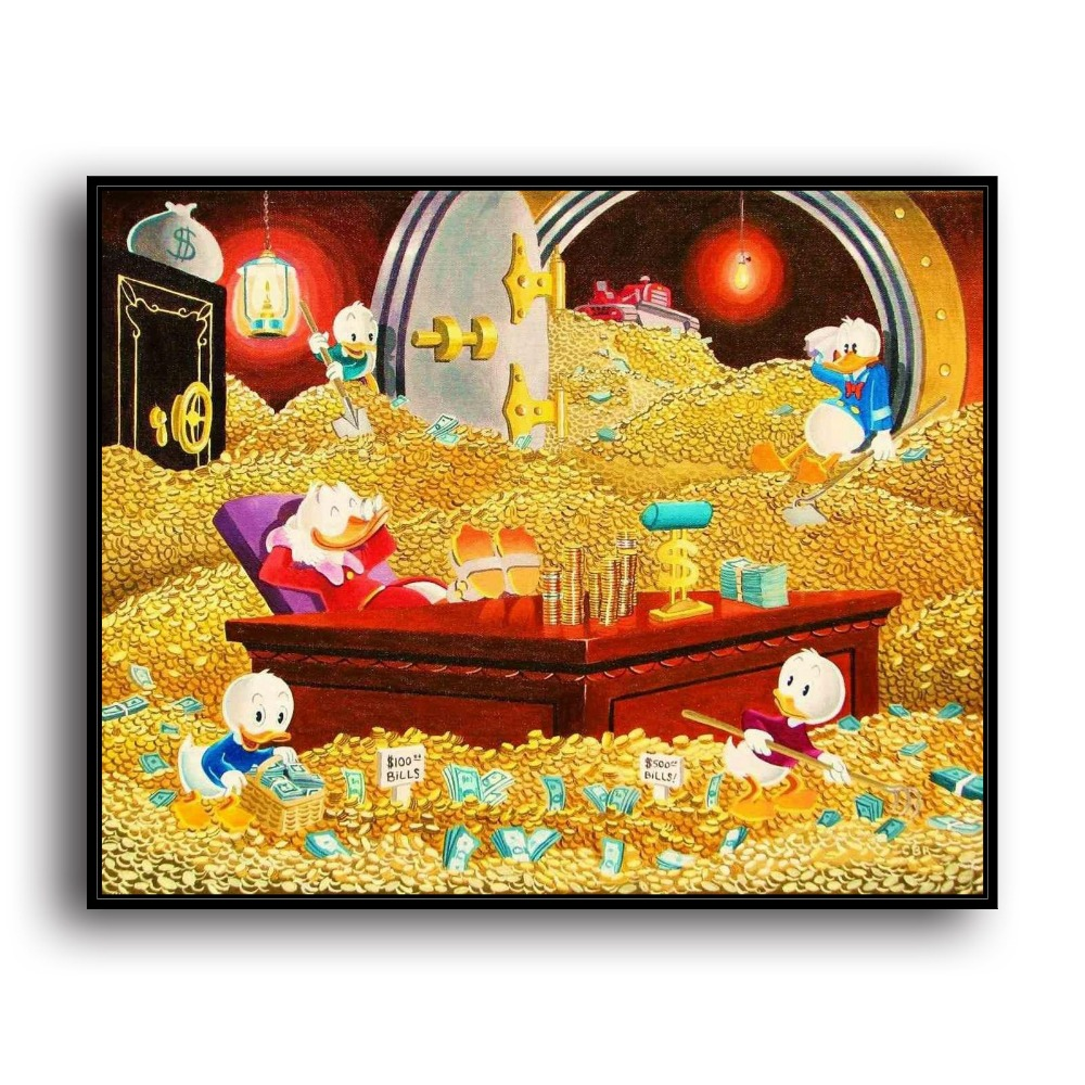 ᐊH2047 Donald Duck Uncle Scrooge Mcduck Animal .HD Canvas Print ...