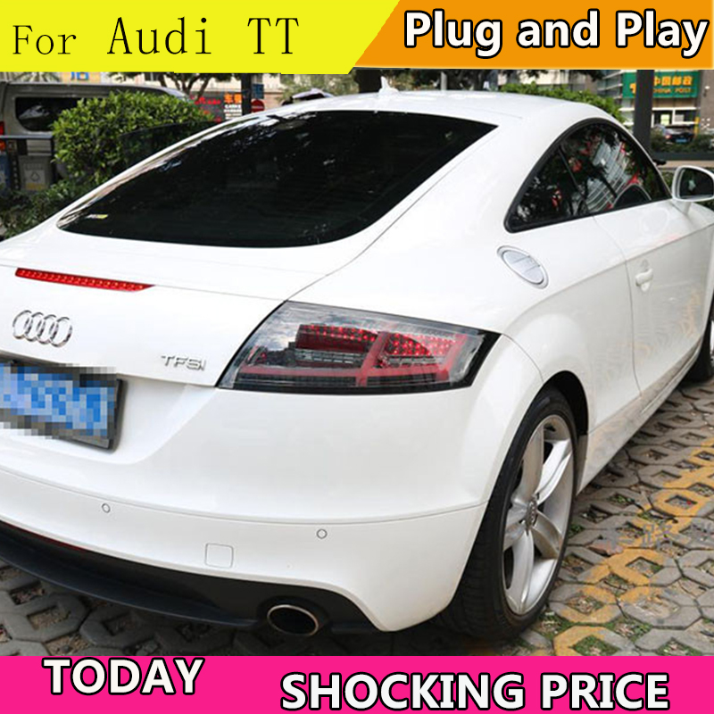 Car Styling For Audi TT 2006 2013 Tail Light Assembly LED Taillight Rear Lamp dynamic turn signal +Reverse+Brake+Driving Light