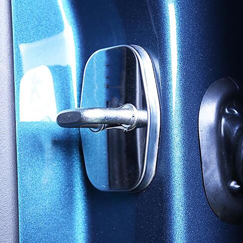 Car Door Lock Cover fit for 3008 2008 207 307 308 408 508 406 RCZ 2011-2016 Stainless Steel Door lock Covers car accessories