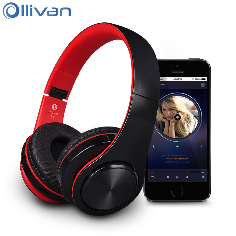 Ollivan B3 Wireless Bluetooth Headphone Audio MP3 Earphone Sport Running Headset Subwoofer Stereo Headphones Support SD TF Card economic set original nia q1 8 gb micro sd card a set bluetooth headphone wireless sport headsets foldable bluetooth earphone