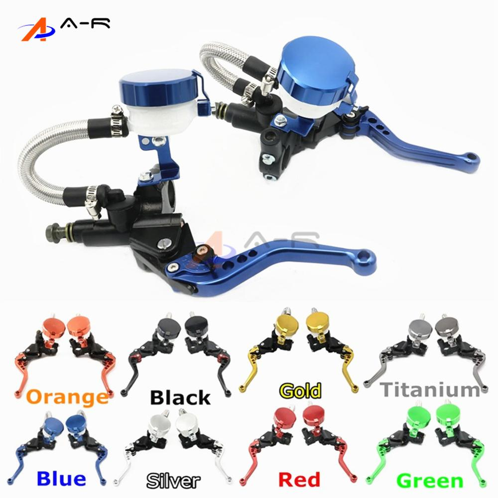 CNC 22MM 7/8'' Clutch Brake Levers Master Cylinder Reservoir for Yamaha XJR1200 1995-1998 XJR1300 1999-2003 YZF750R alle 6 colors cnc adjustable motorcycle brake clutch levers for yamaha yzf r6 yzfr6 1999 2004 2005 2016 2017 logo yzf r6 lever