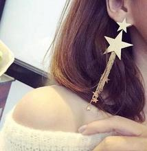 Boho Long Star Dangle Earrings Fashion Amazing Tassel Punk Polish Drop For Women Jewelry