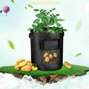 Image 3 - 7 갤런 직물 토마토 감자 성장 가방 꽃 야채 재배자 가방 홈 정원 심기 액세서리 새로운