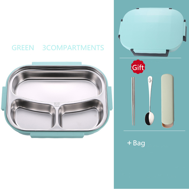 Green 3 bag Cheap bento boxes 5c6479e2edeb1