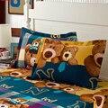 2 Pcs 48 cm * 74 cm Almofada Confortável de Volta Casamento Sono Pillow Sham Pillow Case Capa Adorável Animal Algodão roupa de Casa