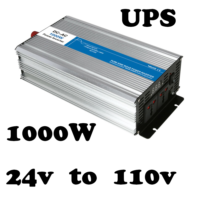1000w dc24v to 110vac inverter off grid Pure Sine Wave solar inverter voltage converter with charger and UPS AG1000 24 110 A