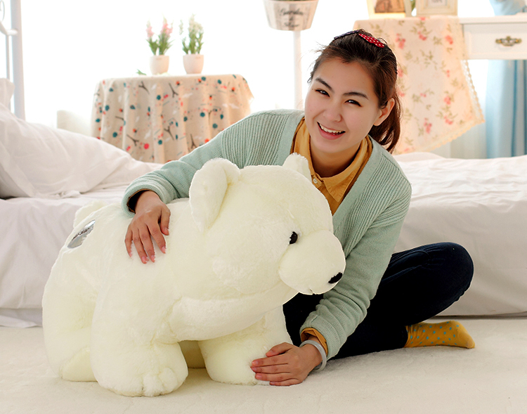 big size plush lovely The polar bear toy huge white standing polar bear doll gift about 75cm 0162 big cute simulation polar bear toy handicraft lovely white polar bear doll gift about 31x18cm