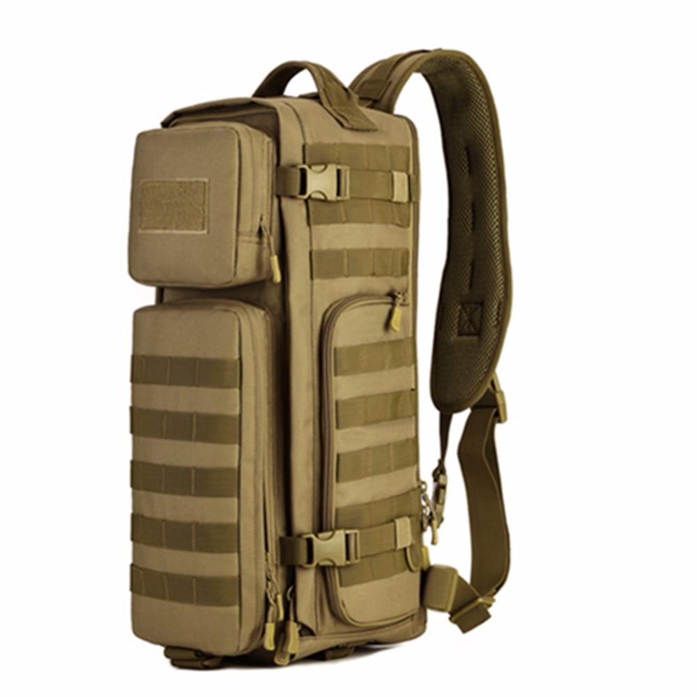 Men Chest Sling Back pack Mens Bags One Single Shoulder Man Large Travel Military Back packs Molle Bags Outdoors Rucksack 045