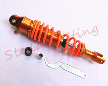 Suitable for: scooter motorcycle 50cc 100cc 125cc after shock absorber Gold + orange 1X1 320mm