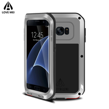 hot deal buy love mei armor shockproof case for samsung galaxy s7 edge cover powerful metal aluminum case for galaxy s7 edge (5.5 inch) cover