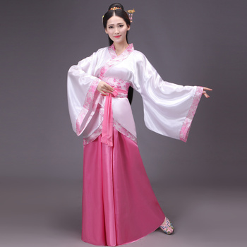 Ancient Chinese Costume Traditional Hanfu Women National Dance Costumes Children