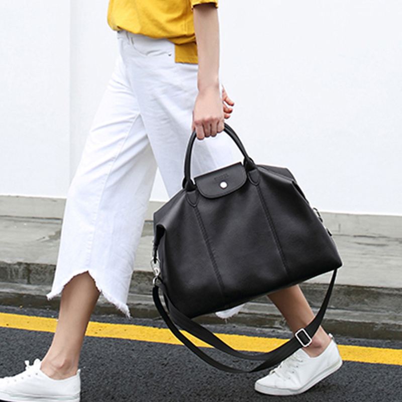 Women Tote Bag Lady Fashion Handbags Casual Large Capacity Top-handle Shoulder Bags Classic Black Crossbody Bags Bolsas Femme 2017 new classic casual patchwork large tote lady split leather handbags popular women fashion shoulder bags bolsas qn029 page 3