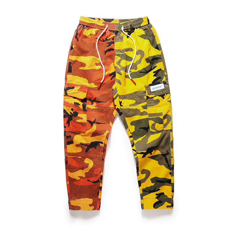 men camouflage cargo jogger pants teenager hip pop camo Harajuku trackpants teenager loose multi pocket harem pencil sweatpants