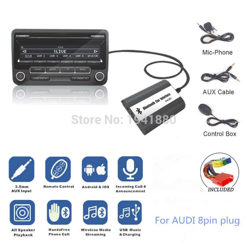 DOXINGYE Bluetooth A2DP Voiture MP3 Lecteur chargeur cd Adapte AUX USB Musique Chargeur Bluetooth Mains Libres Pour Audi VW Skoda Siège