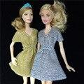 Подлинная мода мини кукла юбка платье устанавливает девушки игрушки подарки повседневная одежда