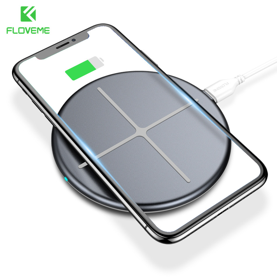 FLOVEME Qi Wireless Charger For iPhone X 8 Samsung Galaxy S8 S7 S6 5W Wireless Charging Pad For Phone 8 Plus Samsung S9 S9 Plus