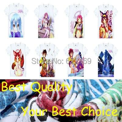 Japanese No Game No Life anime t-shirt anime Kuhaku Sora Shiro cotton shirt Cosplay christmas Costumes anime clothing