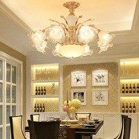 L новый европейский стиль потолочный светильник кристалл гостиная люстра цветок спальня ресторан теплый романтический Американский потол