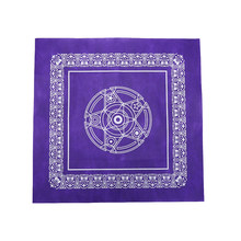 JULYHOT High Quality 49cmx49cm Pentacle Tarot Game Tablecloth Non-woven Board Game Textiles Tarot Table Cover Playing Cards(China)