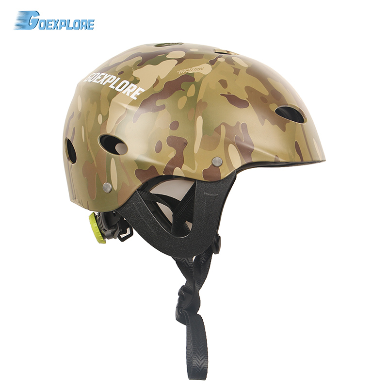 Goexplore Water Helmet Men ABS Boating Kayak roller skating Rock Mountain Climbing Water Sports Equipment Sport Helmet Adult