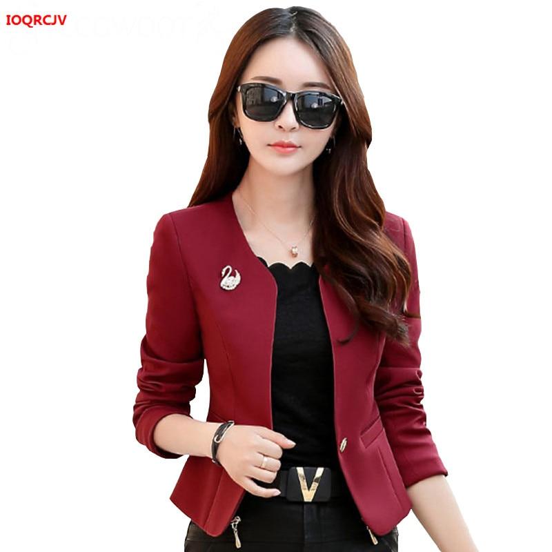 Spring And Autumn New Blazer Women 2019 Solid Color Fashion Slim Office Short Blazer Women Elegant Single Women Blazer Coat W959