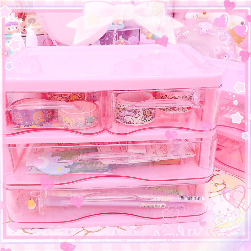 Cute Stationery Masking Tape Cutter Washi Tape Storage Organizer Cutter Office Tape Dispenser Supplies For Girls Collection