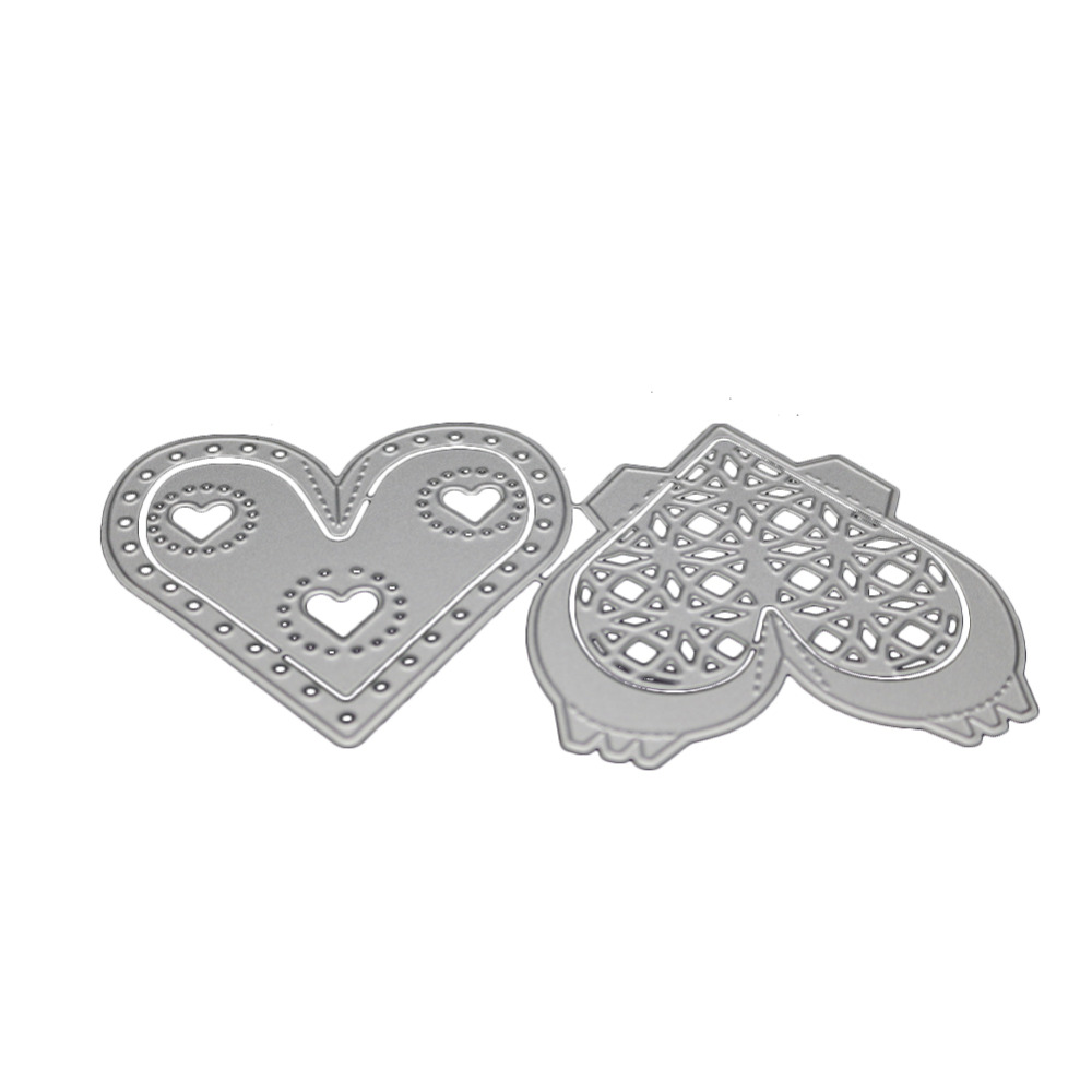 Valentines Dayscrapbooking openwork love shape Metal steel cutting Heart and soul shape  ...
