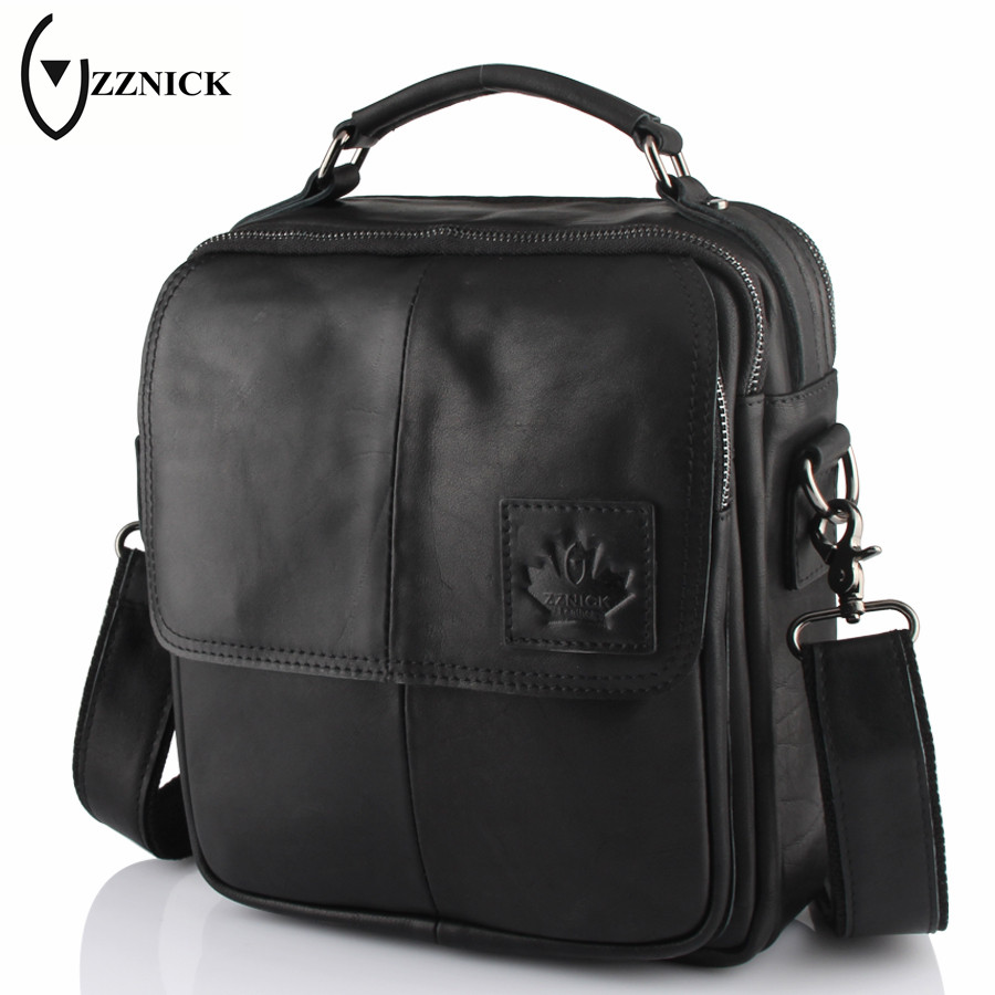 ZZNICK 2018 New Genuine Leather Men's Bag Brand Business Male Fashion Shoulder Bags Luxury Cow Leather Handbag Men Crossbody Bag zznick 2017 new men s business bag brand genuine leather male fashion shoulder bags luxury cow leather handbag men crossbody bag