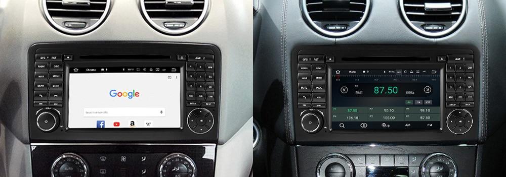 4GB android 9.0 car dvd player for Mercedes Benz ML320 ML350 W164 2005~2012 Multimedia GPS Navigation Map Autoradio WiFI Bluetooth 9