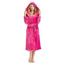 Зимний плюшевый Халат с капюшоном, Размер 5XL, удлиненный теплый плюшевый халат, одежда для сна с длинными рукавами, нижнее белье Warme Kleding, комплект