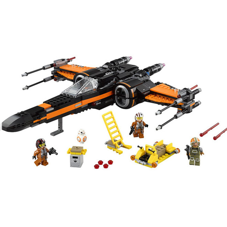 New-Lepin-05004-845pcs-Star-Wars-First-Order-Poe-s-X-wing-Fighter-Assembled-Toy-Building