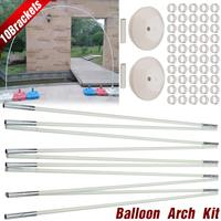 Utility Balloon Column Stand Kits Arch Stand with 10 Brackets 2 Bases 50 Buckles for Wedding Birthday Festivals Party Decoration