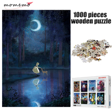 MOMEMO Moonlight Adult 1000 Pieces Wooden Puzzles Jigsaw Entertainment Puzzle Games for Childen Kids Toys