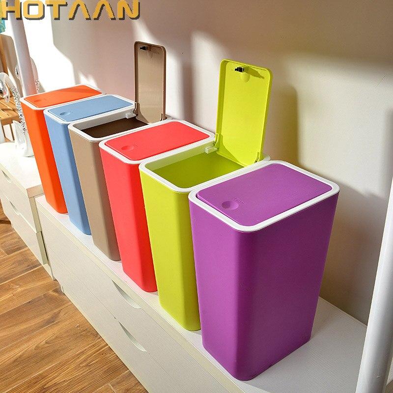 HOTAAN Plastic Trash Can Dustbin PP Environmentally Plastic Home Office  Waste Bin HT84002 In Waste Bins From Home U0026 Garden On Aliexpress.com |  Alibaba Group