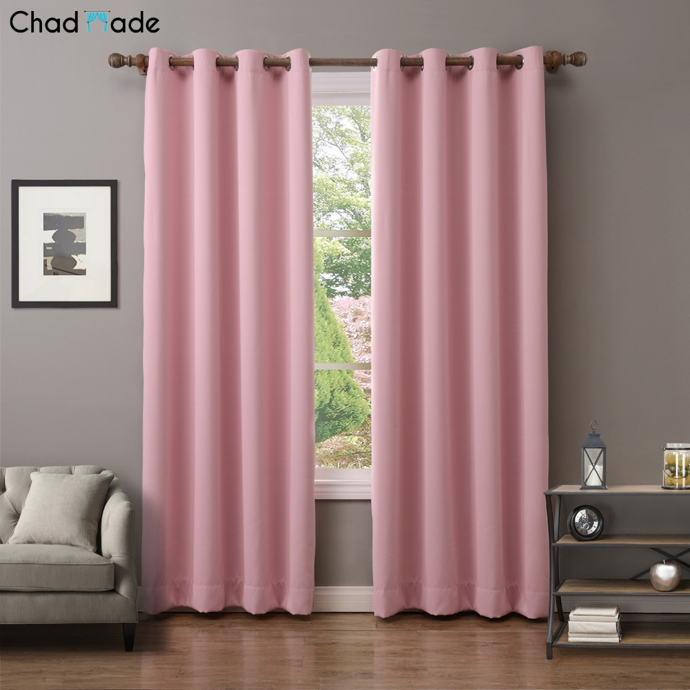 ChadMade Solid Thermal Insulated Blackout Curtains Drapes Antique Bronze Grommet Window Curtain For Living Room Bedroom