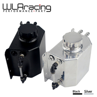 WLR RACING Universal 1L Aluminum Oil Catch Can Reservoir Tank With Drain Plug Breather Oil Tank Fuel Tank WLR TK57