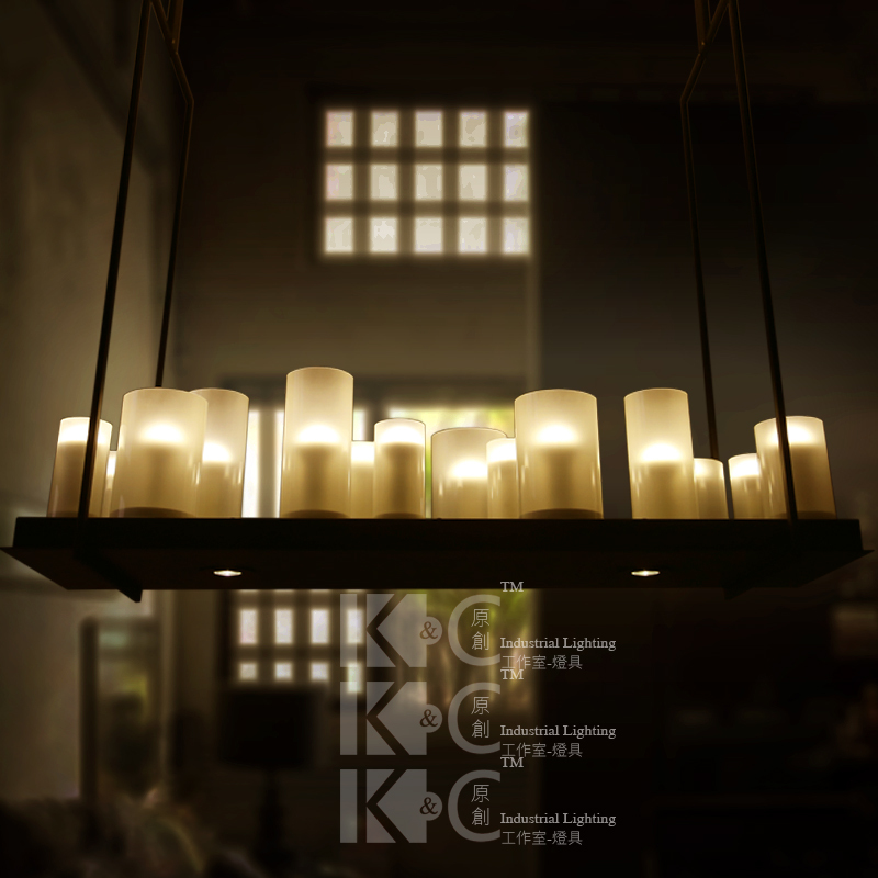 Kc Lamps Vintage American Country Candle Chandelier