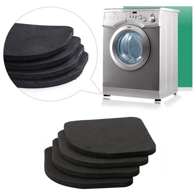 4 pz frigorifero anti-vibrazione pad lavatrice shock pad antiscivolo zerbino ner