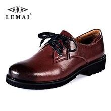 Lemai градиент красный кирпич лакированные кожаные туфли Для женщин сзади с кожаной стелькой больших размеров Кружево-Up Повседневное обувь ручной работы офиса # K855