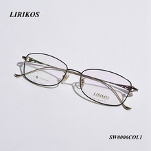 LIRIKOS Pure Titanium Hollow out Style Women Full Frame Business Reading Glasses Clear Eye Lens male Spectacle Eyewear