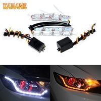 40CM White Yellow Crystal LED DRL Strips Flexible Car LED DRL Stripes LED Daytime Running Light