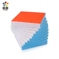 YUXIN Huanglong Professtional 10*10*10 Stickerless Magic Cube Speed Puzzle 10x10 Cube Educational Toys Gifts 105mm